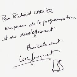 Autographe de Luc Jacquet